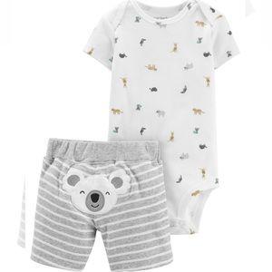 3/$25 Carter's Koala Shorts Outfit Set